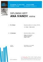 Ana Ivanov, violina : prvi dio diplomskog ispita (Prilog)