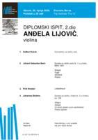 Anđela Lijović, violina : drugi dio diplomskog ispita (Prilog)