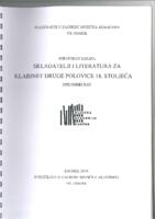 prikaz prve stranice dokumenta Skladatelji i literatura za klarinet druge polovice 18. stoljeća