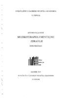 prikaz prve stranice dokumenta Muzikoterapija i mentalno zdravlje