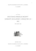 prikaz prve stranice dokumenta WOLFGANG AMADEUS MOZART: KONCERT ZA KLARINET I ORKESTAR, KV 622