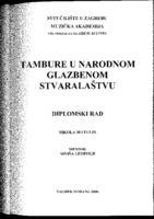 prikaz prve stranice dokumenta Tambure u narodnom glazbenom stvaralaštvu
